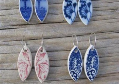 China leaf-shaped earrings on sterling silver rings $38 China available changes all the time...some of these patterns may no longer be in stock but a similar design can be provided.