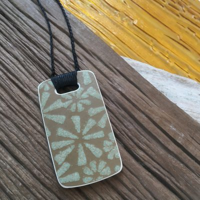 Crown Lynn recycled ceramic rectangle pendant Palm Springs $58